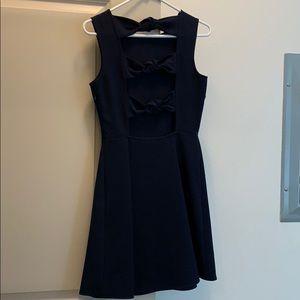 Navy bow dress